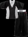 Uniform-StrongLine-BlackwithWhiteCollar-Front-Web